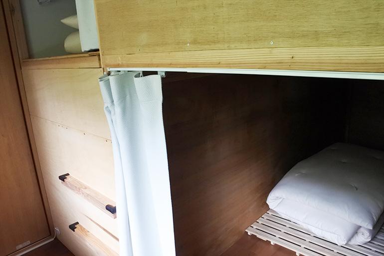 ベッドルームのほかにゲストハウスタイプのベッド部屋もあります